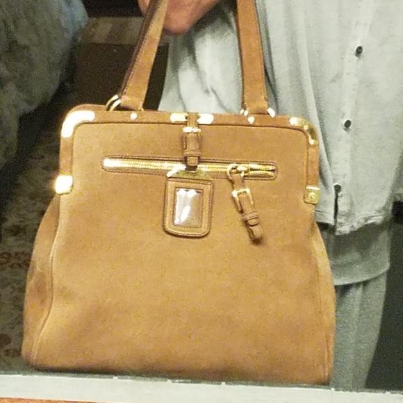 Prada Bags   Authentic Suede Brown Shoulder Bag   Poshmark 66f680e79a